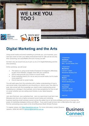Digital Marketing and the Arts...