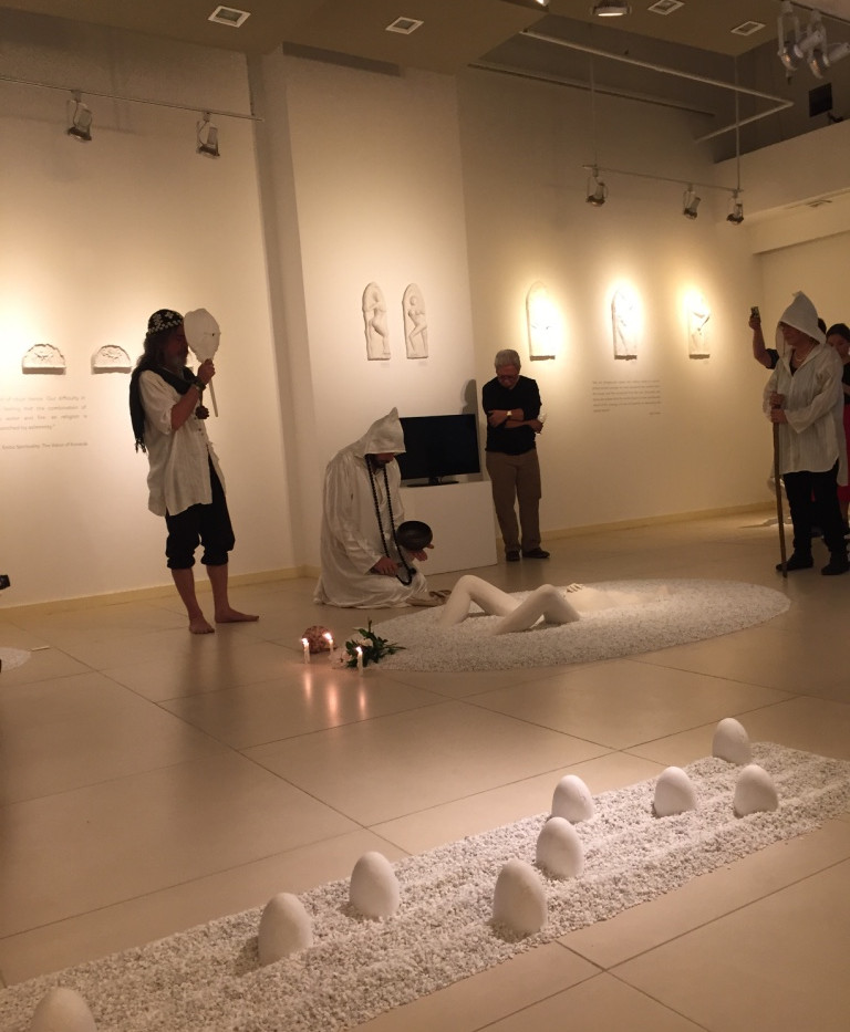 Opening ritual with BIllie Bonnevie and Agnes Arellano