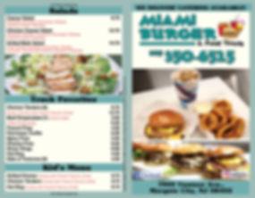 Margate Burger & Food Truck - Menu 1