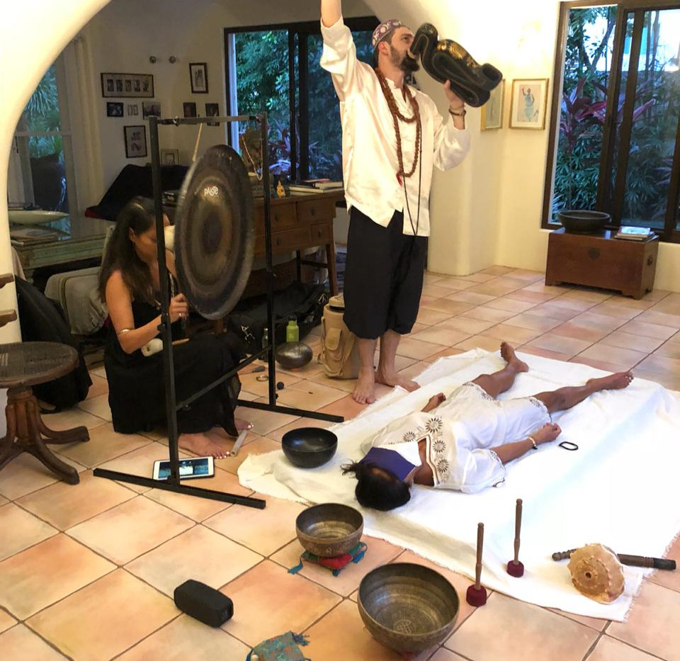 Private sound healing