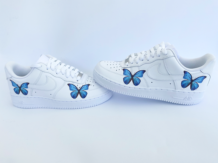 Butterfly Blue's Air Force 1 - Ladies