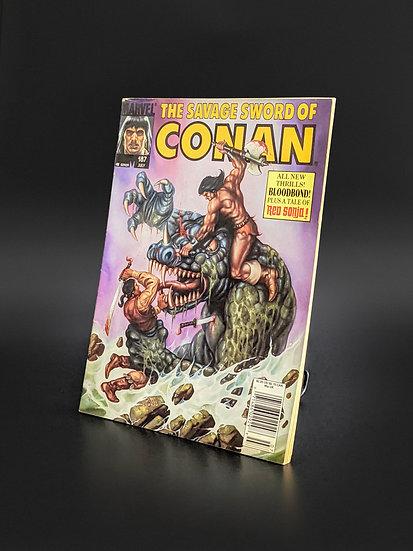 THE SAVAGE SWORD OF CONAN VOL. 1 #187 FN/VF (MARVEL, 1991)