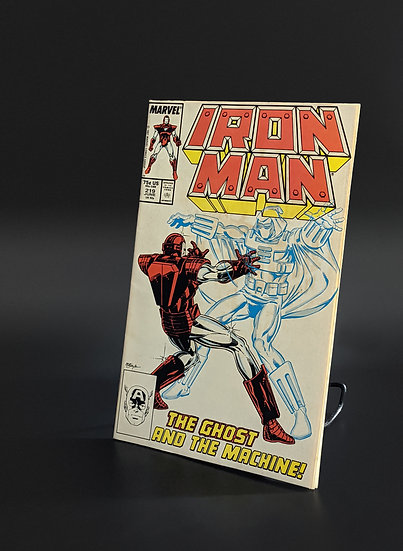 IRON MAN #219 1ST APPEARANCE OF GHOST, ANTMAN WASP MOVIE (MARVEL,1987)