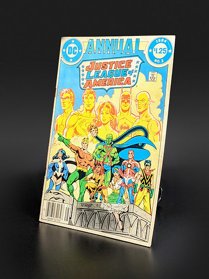 JUSTICE LEAGUE OF AMERICA ANNUAL #2 - APP. OF VIBE, GYPSY, STEEL F/VF (DC, 1984)