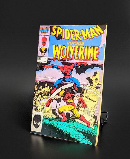 SPIDER-MAN VS WOLVERINE #1 HOBGOBLIN/FIRST CHARLEMAGNE FN/VF (MARVEL, 1987)