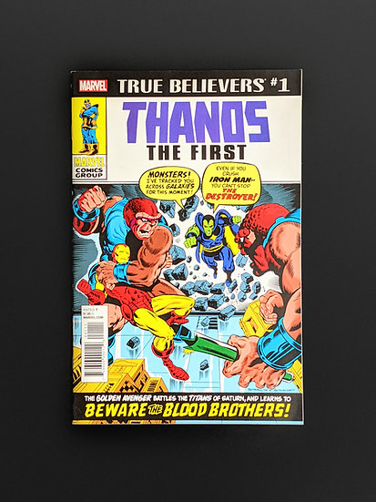 TRUE BELIEVERS THANOS FIRST REPRINTS FIRST APPEARANCE OF THANOS