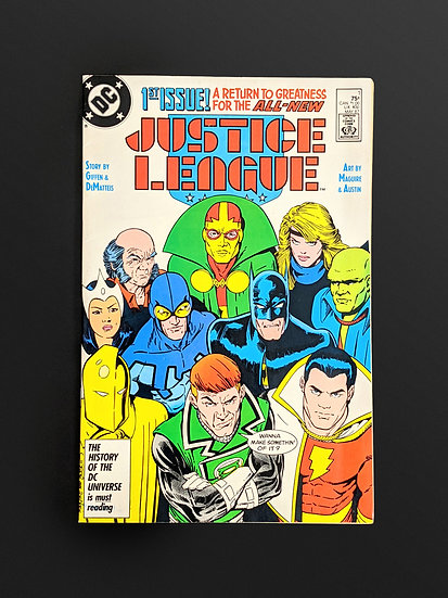 JUSTICE LEAGUE #1 - 1ST APPEARANCE OF MAXWELL LORD NM/M (DC, 1987)
