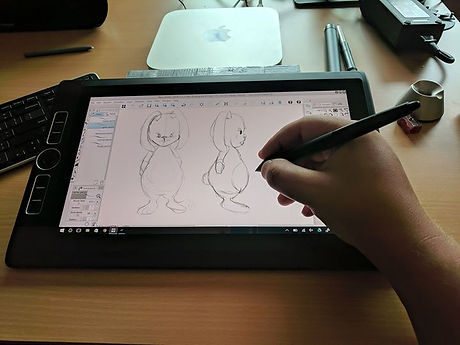 New week with my new toy.jpg Love my cintiq mobiles studio pro.jpg It is great to work where ever I