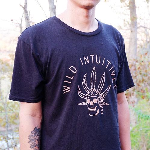 Skull Leaf T shirt