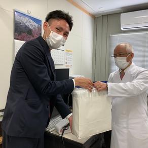 ㈱近藤組さんからマスクの寄付を頂きました。