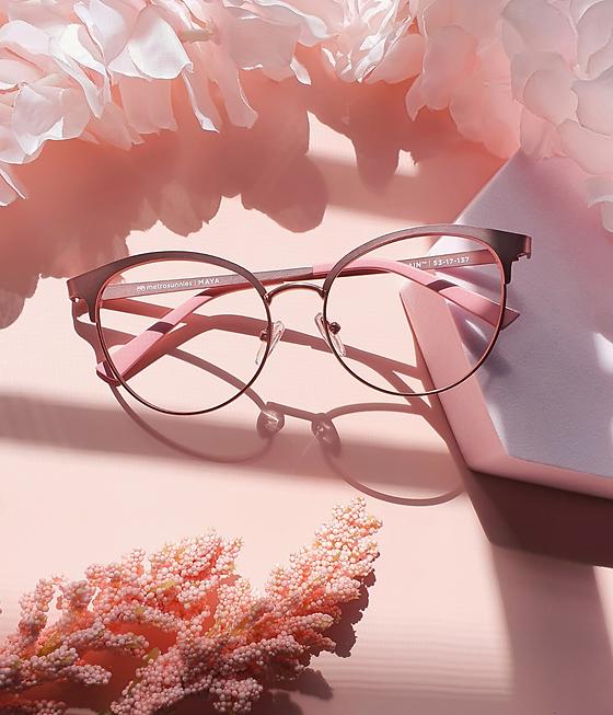 Pink Metal Eyeglasses