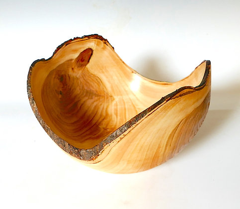Natural Edged Bowl in English Cherry.