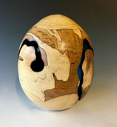 Spalted Beech Egg Form