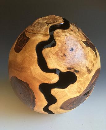 'Egg' Form in Burr Walnut.