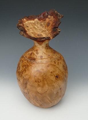 "Burr Oak Vase Form. 10"" x 7"""