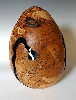 Egg Form in Spalted Beech.