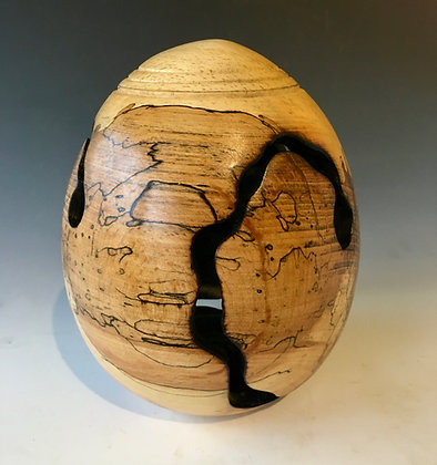 Spalted Beech Egg Form.