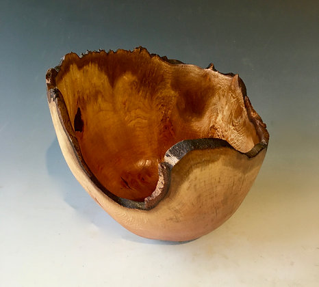 Natural Edged Bowl in London Plane