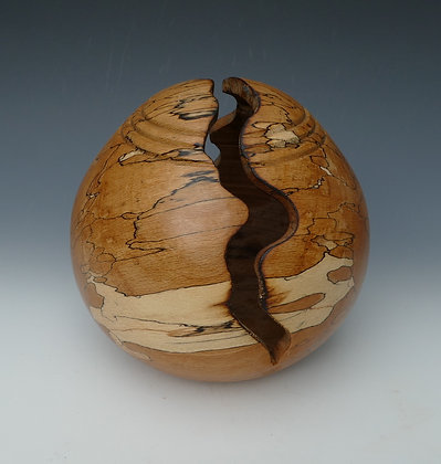 """Spalted Beech Egg Form. 8"""" x7"""""""