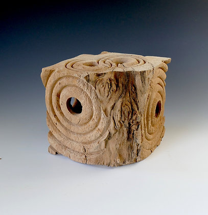 Cube Form in Lacewood.