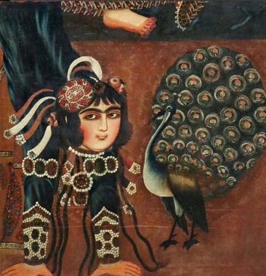 La mujer acróbata. Epoca Qajar- Museo Louvre París