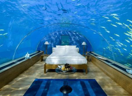 The best underwater hotel room suites