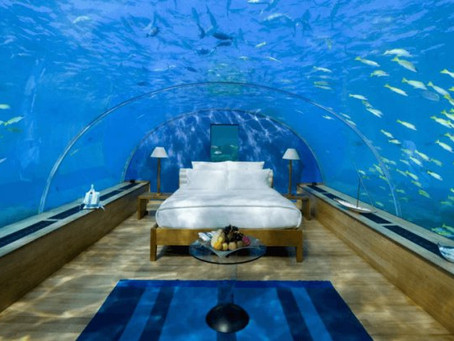 The best underwater hotel room suites