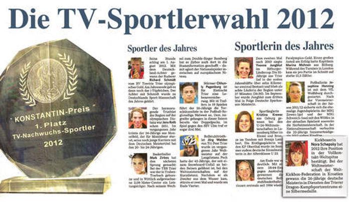 TV-SPORTLERWAHL 2012