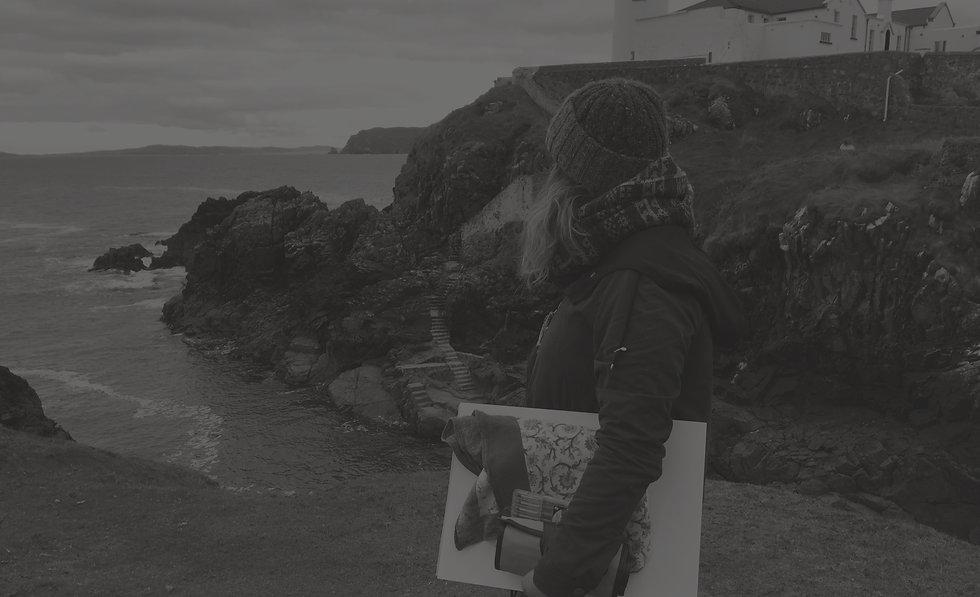 sketchbook, artist, ireland, landscape, sea, wild atlantic way