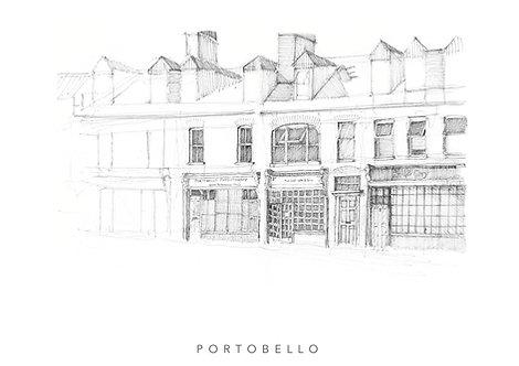 Coffee shop portobello fine art giclee print