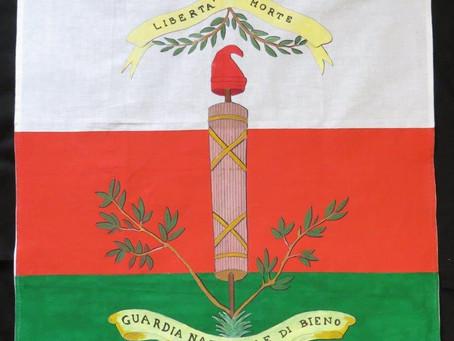 Bandiera a campi orizzontali della Guardia Nazionale di Bieno, 1797