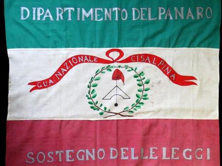 Bandiera a campi orizzontali della Guardia Nazionale del Dipartimento del Panaro, 1797