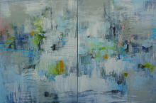 Through the Clouds ~ 70x48 diptych
