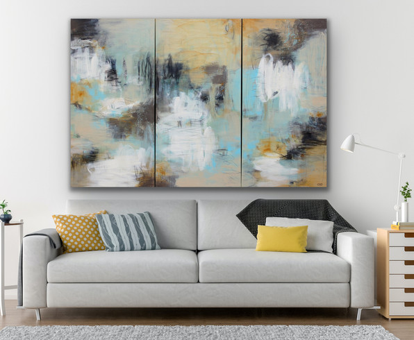 Laughing out Loud ~ 72x48 (triptych)