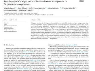 Original research article in Journal of Biotechnology: X