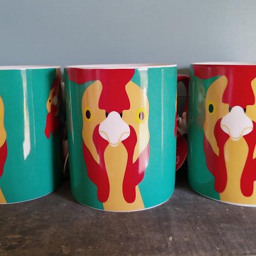 Plucky' Chicken Fine China Mug