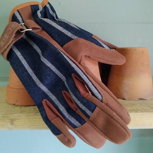 Striped gardening Glove