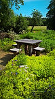 Seating Walled Garden at Mells