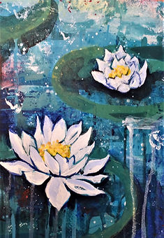 SKFox-art Water Lily painting lesson_DSC
