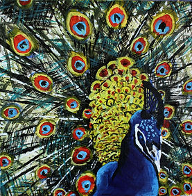 Sheryll K Fox_Peacock painting.JPG
