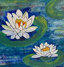 SKFoxArt_2. student water lily painting.