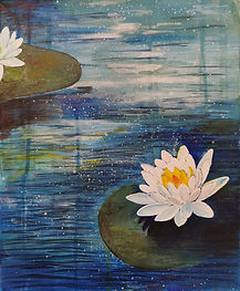SKFoxArt_4.student water lily painting.j