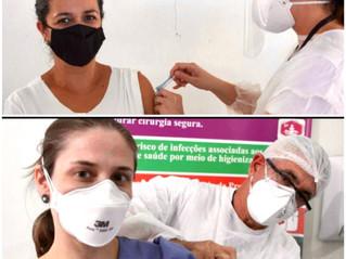 Guaxupé iniciou nesta quarta-feira a vacinação contra a Covid-19