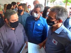 Zettinho se encontra com Romeu Zema e pede ajuda do Governo contra reajuste na conta de água