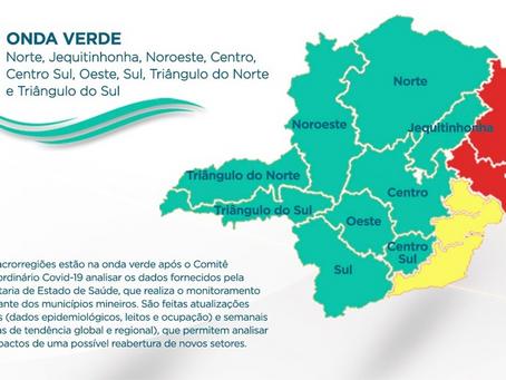 Quatro macrorregiões de Saúde regridem para fases mais restritivas do Minas Consciente