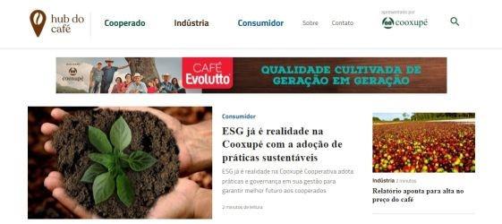 """Cooxupé investe em mídia proprietária e lança portal """"Hub do Café"""""""