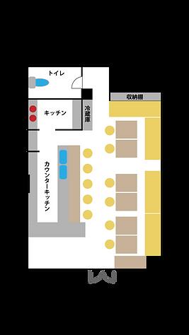 東京・新宿撮影スタジオ,レンタルスタジオ,【babel bar studio】 間取図