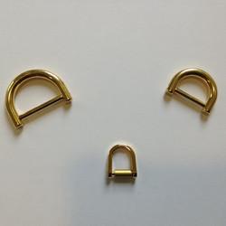 anelli a D in ottone