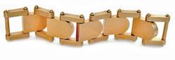 bracciale in ottone realizzato a CNC