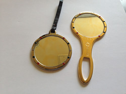 specchi in ottone con cristalli strass